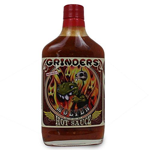 Grinders Molten Hot Sauce - Mango and Habanero - 13.5 oz