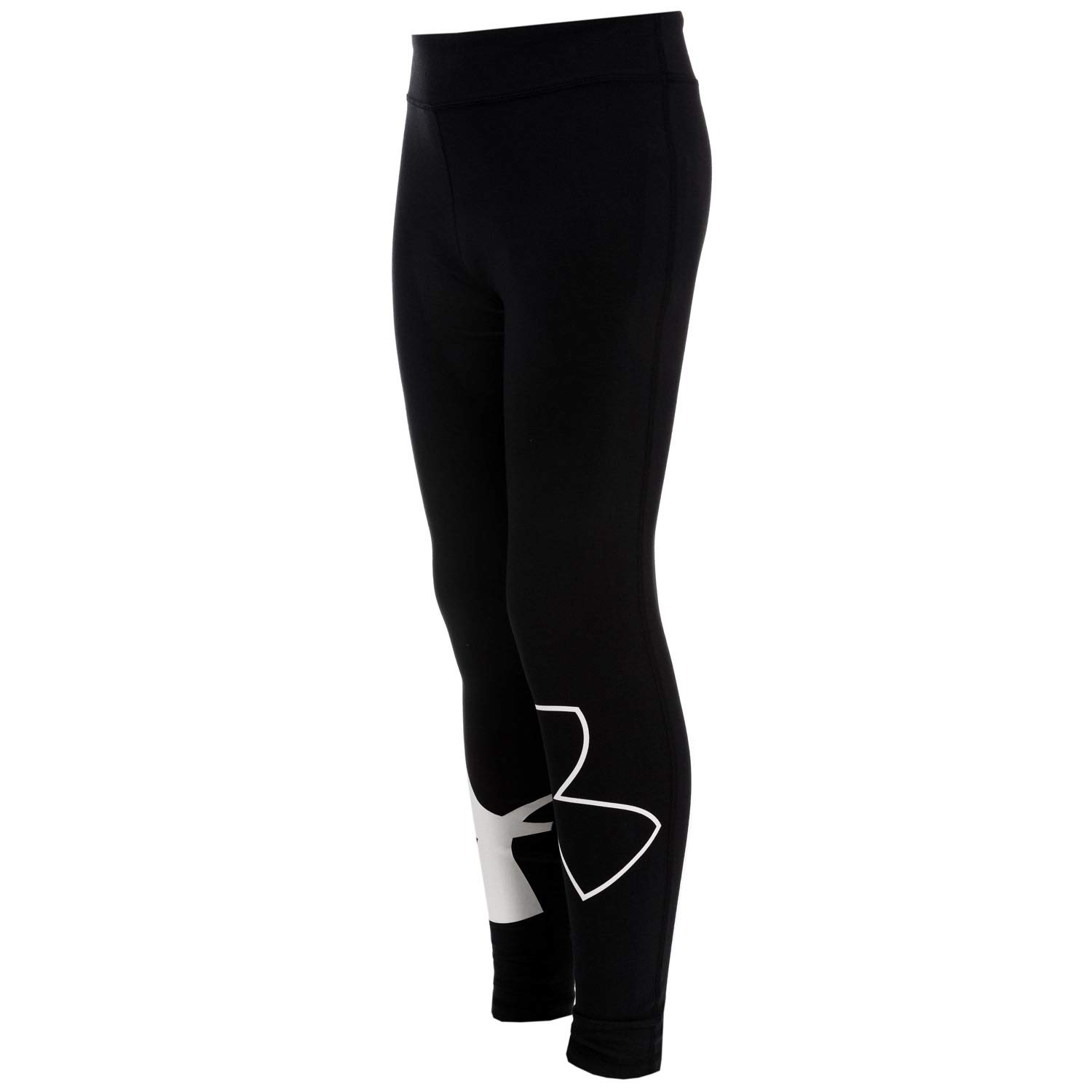 Under Armour Kids Girl's Favorite Knit Leggings (Big Kids) Black/White Large