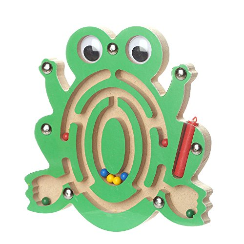 (JonerytimeBaby Toy Kids Magnetic Maze Toys Kids Wooden Game Toy Wooden Intellectual Jigsaw Board (A))