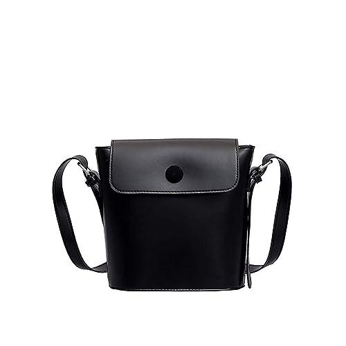 3b60d4c37242 Amazon.com: Rakkiss Solid Messenger Bag Leather Crossbody Bag ...