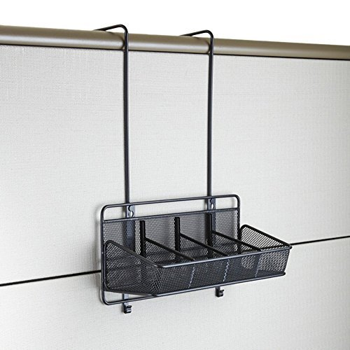 Safco Products Onyx Mesh Panel Organizer, Supplies, 4 Pocket, Black, 6454BL by Safco