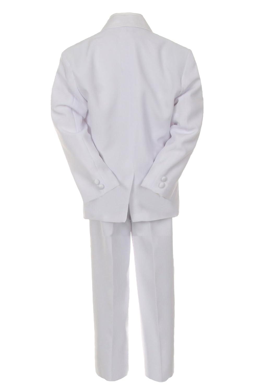 887b285b7 Amazon.com: Unotux Boys White Formal Baptism First Communion Vest Set Suits  Tuxedo Baby Teen (S:(0-6 months)): Clothing