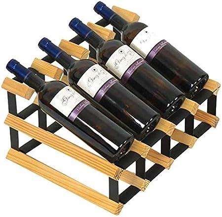 KUMOPYU Estante De Vino Estante De Vino Estante De Vino 8 Botellas De Estante De Exhibición De Gabinete De Estante De Vino De Madera Maciza Vinotecas Copas De Vino botellero Estante De Vino