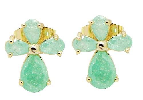 Amazon.com: THENICE 1 par Moda cristales de hielo Zircon ...