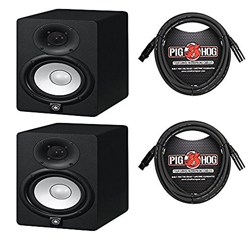 Yamaha HS5 Studio Monitor (Pair) With Free Deluxe 10FT XLR Cables by Yamaha