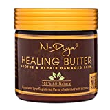 neem oil eczema - Relief for Eczema and Psoriasis 100% Natural Treatment Healing Butter with Shea Butter, Neem & Tea Tree Oil Safe for Babies Kids and Adults (Ointment, Cream, Lotion, Moisturizer) by N'Diya 4 Oz