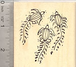 Leatherback sea turtle hatchlings on beach for Rubber stamps arts and crafts