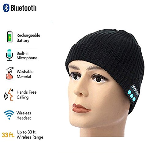Color You Bluetooth Knit Hat, Winter Music Beanie Cap with Stereo Speakers & Mic, Birthday Christmas Gift for Teen Young Boys Girls Men Women