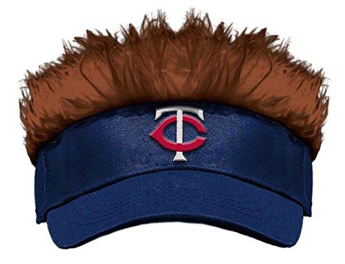 - MLB Minnesota Twins Flair Hair Adjustable Visor, Navy