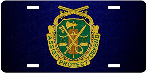 ExpressItBest Premium Aluminum License Plate - U.S. Army Military Police Corps, Regimental Insignia