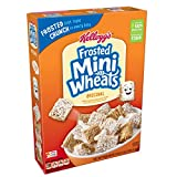Kellogg's Breakfast Cereal, Frosted Mini-Wheats, Original, Low Fat, Excellent Source of Fiber, 18 oz Box(Pack of 4)