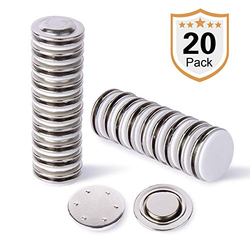 - Strong Small Round Name Badge Magnet,20 Pack Ideal for Button Badges, Circle Badges,Brooches, Arts&Crafts and Other Round or Small Name Tags