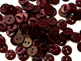 Crown Round Plastic Fish Eye Buttons Wine - per button