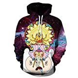 Zegoo Queen King Printed Hooded Sweatshirt Fashion Couples Pullover Hoodie M