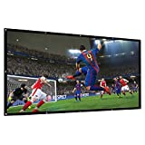 Abdtech 100 Inch Projector Screen Foldable HD Portable Indoor Outdoor Movie Screen 16:9 4K Projection Screen Ideal For Home Theater Cinema Backyard Movie Camping Games Party Office
