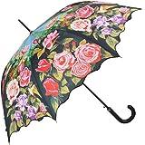 """VON LILIENFELD Parapluie automatique à motif """"Roseraie"""""""