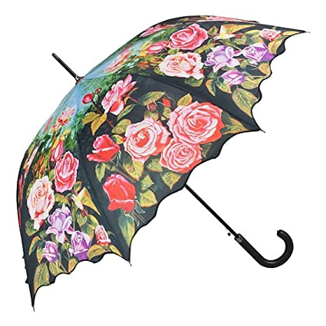 VON LILIENFELD Paraguas automático con motivo/motivo floral Jardín de rosas