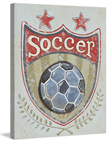Marmont Hill Soccer Shield Print on Wrapped Canvas, 24'' x 31'', Multicolor by Marmont Hill