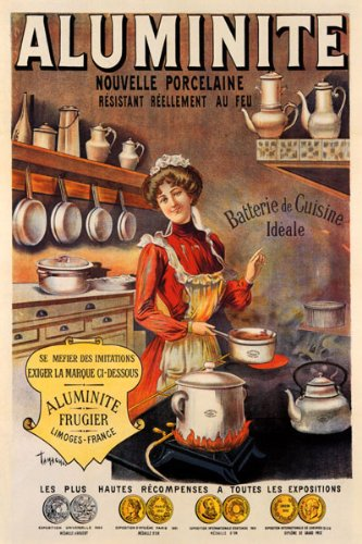Superieur COOK COOKING ALUMINUM PAN OLD KITCHEN VINTAGE POSTER CANVAS REPRO