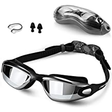 Zerhunt Swim Goggles,Swimming Goggles Professional Anti Fog No Leaking UV Protection Wide View Swim Goggles for Women Men Adult Youth Kids