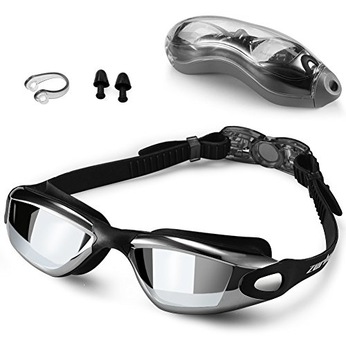 Swim Goggles,Swimming Goggles - Zerhunt Professional Anti Fog No Leaking UV Protection Wide View Swim Goggles For Women Men Adult Youth (Mens Journey Water)