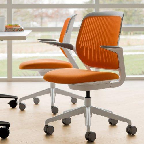 amazon com steelcase cobi chair blue jay fabric kitchen dining