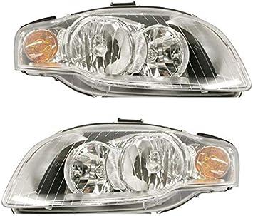 Halogen Headlight Passenger Side For Audi B7 Body 2005-2009 A4 Quattro A4