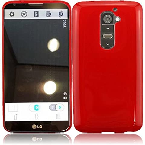 Chili Red Premium TPU Skin Case Cover Protector for LG G2 D800 (by AT&T / T-Mobile / Sprint) (Not for Verizon G2 phone) with Free Gift Reliable Accessory (Att Lg G2 Phone)