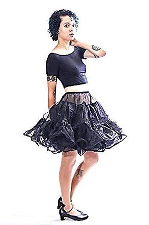 "188a508f47 BellaSous Knee Length 22"" Women Petticoat Full Skirted Crinoline for  Vintage Dresses, Poodle Skirts"