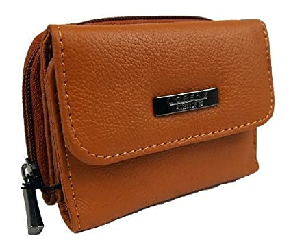 f32c320050 Womens Girls Small Cowhide Leather Clasp Close Coin Purse (Black Brown  Burgundy Cream Red Tan) (Tan)  Amazon.co.uk  Clothing
