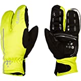 Craft Siberian Split Finger Wind and Waterproof Bike Glove, Neon Yellow, Large