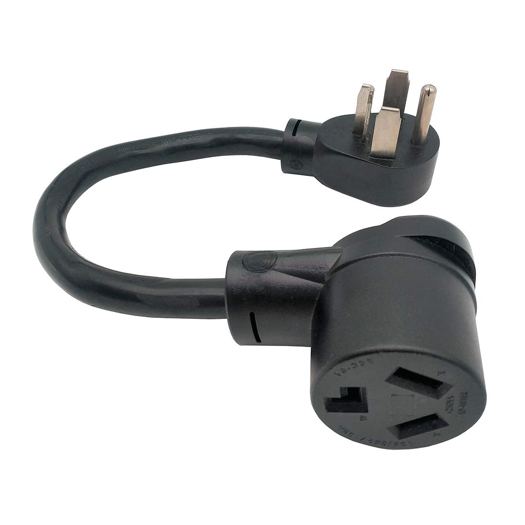 Parkworld 60134 Dryer Adapter Cord NEMA 14-30P Male to 10-30R Female, 30A, 250V, 1.5FT