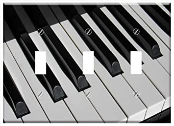 Switch Plate Triple Toggle Piano Keys Close Piano Keyboard Musical Instrument 1 Amazon Com