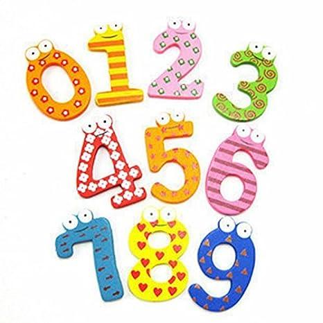 Nalmatoionme Lettere Dell Alfabeto In Legno Numero Frigo Adesivi