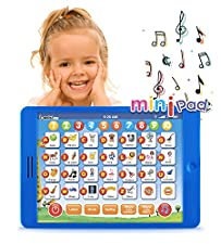 Learning Pad Fun Kids Tablet with 6 Toddler Learning Games by Boxiki Kids. Early Child Development Toy for Number Learning, Learning ABCs, Spelling,