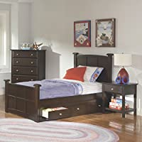 Coaster Home Furnishings Jasper 45 x 81.5 x 48-inches Twin Storage Bed with Drawers, Cappuccino