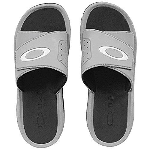(Oakley Men's Super Coil Slide 2.5 Sandals,10,Stone Gray)