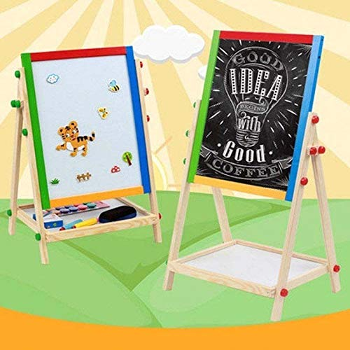 Large Adjustable Children Kids 2 In 1 Black White Wooden EaselDrawing Board by Worldpride1 (Image #9)
