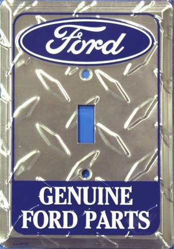 Ford Genuine Parts Diamond Embossed Vanity Metal Novelty Single Light Switch Cover Plate LS10155