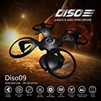 Diso09 Ball Shaped Drone Foldable Mini RC Drone for Kids with Altitude Hold Mode 2.4GHz 6-Axis Gyro WIFI Figure RC Quadcopter for Beginners