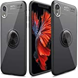 Cresawis for iPhone XR Cases, Ultra-Slim iPhone XR Case with Ring Holder Stand Compatible Magnetic Car Mount Cover Case for Apple iPhone XR (2018) 6.1 inch - Black