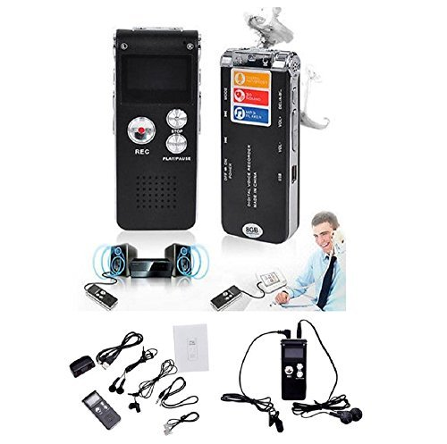 Hotkey® 8GB Digital Audio Voice Recorder Rechargeable Dictaphone USB Drive MP3 Player US
