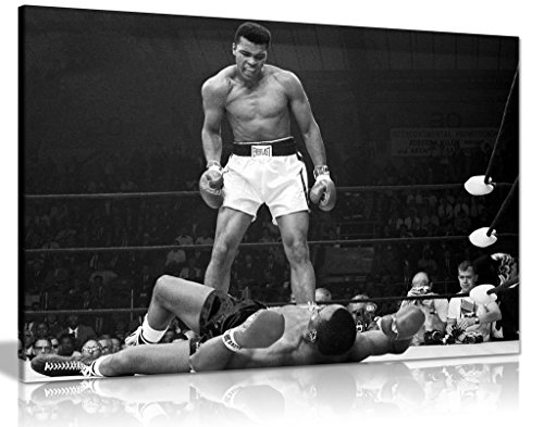 Muhammad Ali Canvas Knock Out Canvas Wall Art Picture Print (30x20in)