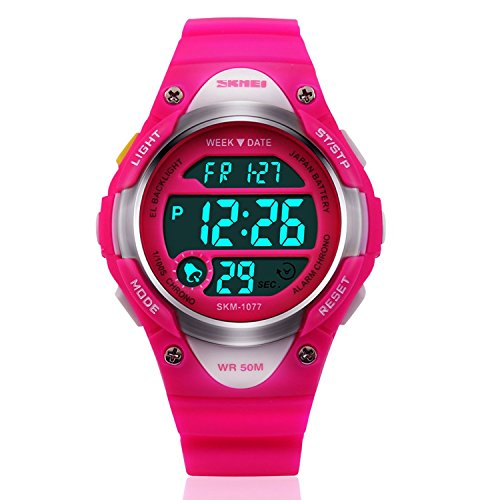 Outdoor Sport Waterproof Digital Watch w/ Alarm Stopwatch for Boys Girls Children Christmas 2017 Gifts