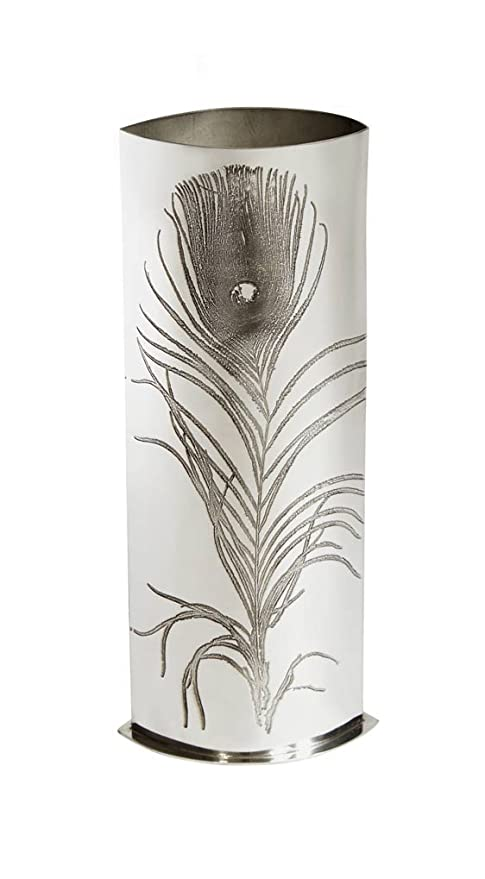 Amazon Wentworth Pewter Peacock Feather Pewter Bud Vase