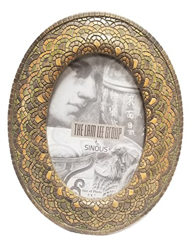 The Lam Lee Group 5x7 Mosaic Round Picture Frame ()
