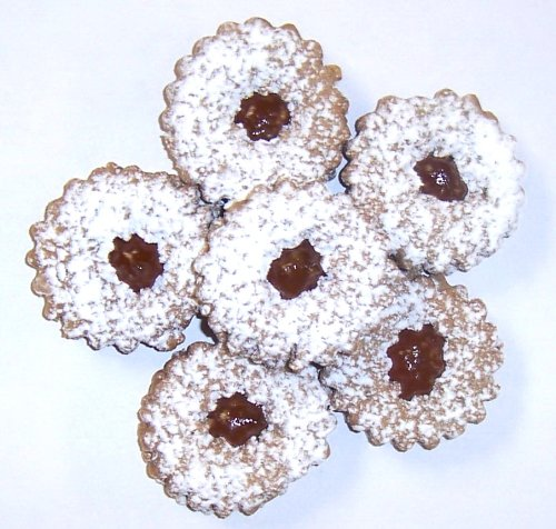 - Scott's Cakes Linzer Cookies with a Twist - Apricot Marmalade in a 1 Pound White Bakery Box