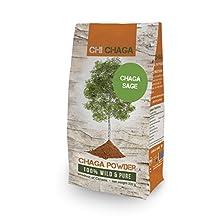 Premium Chaga Mushroom Sage Powder - 8 oz of Authentic 100% Wild Harvested Canadian Chaga Tea - Superfood