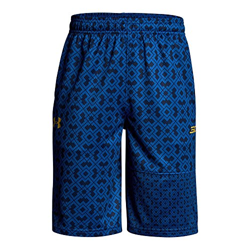 Under Armour Boys' SC30 Novelty Shorts, Royal (400)/Taxi, Youth ()
