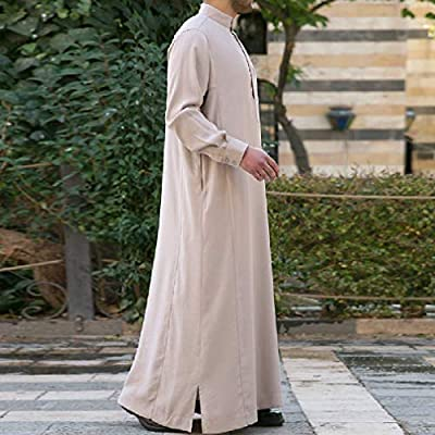 RDHOPE-Men Middle East Islamic Saudi Arabia Traditional Muslim Islamic Kaftan